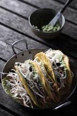 Tacos avocat, crudités