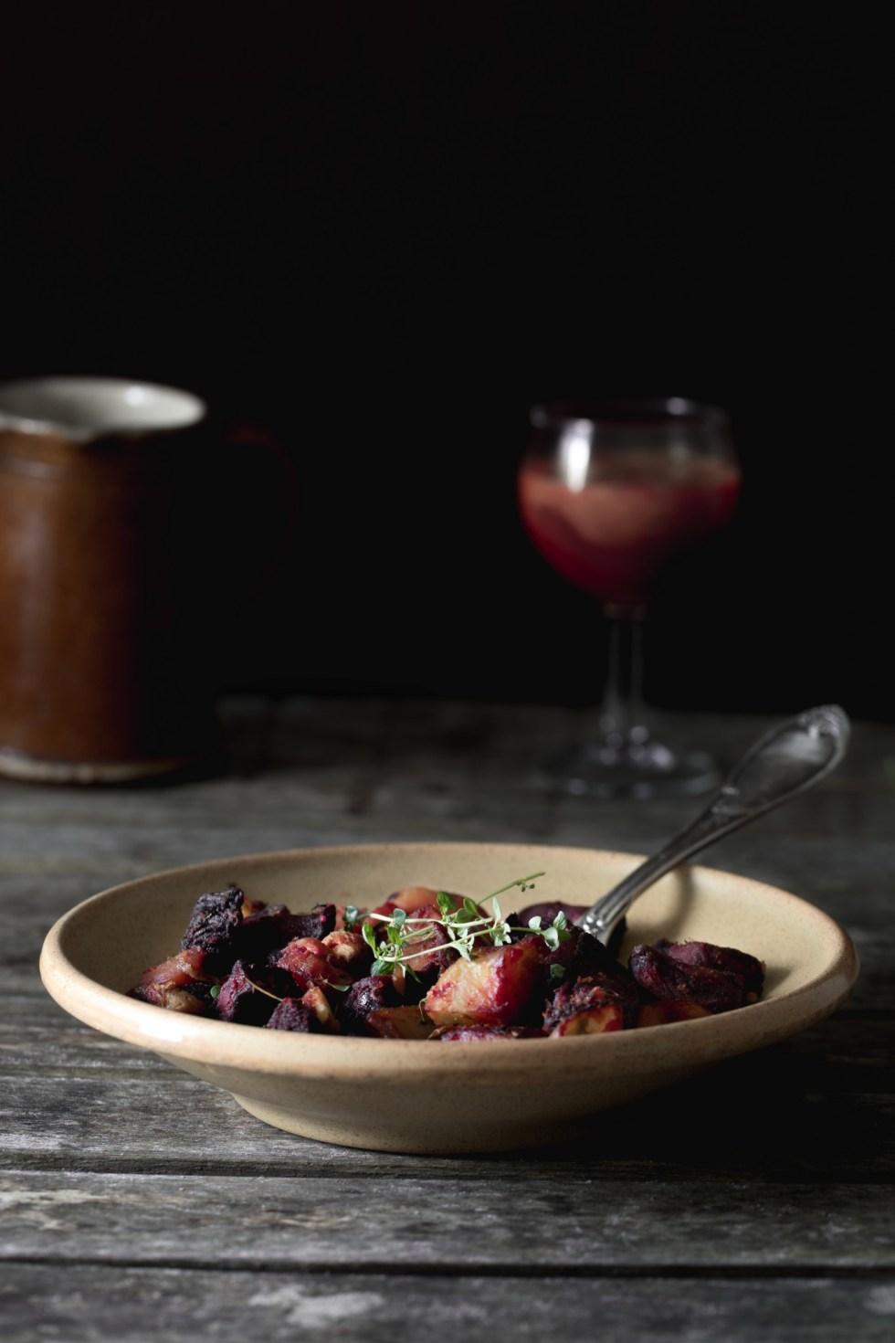Légumes racines rôtis au romarin et thym citronné {vegan, sans gluten, sans lactose}