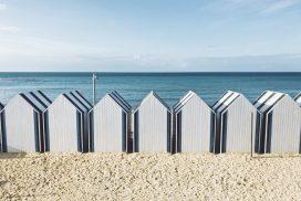 Les cabines de plage à Yport