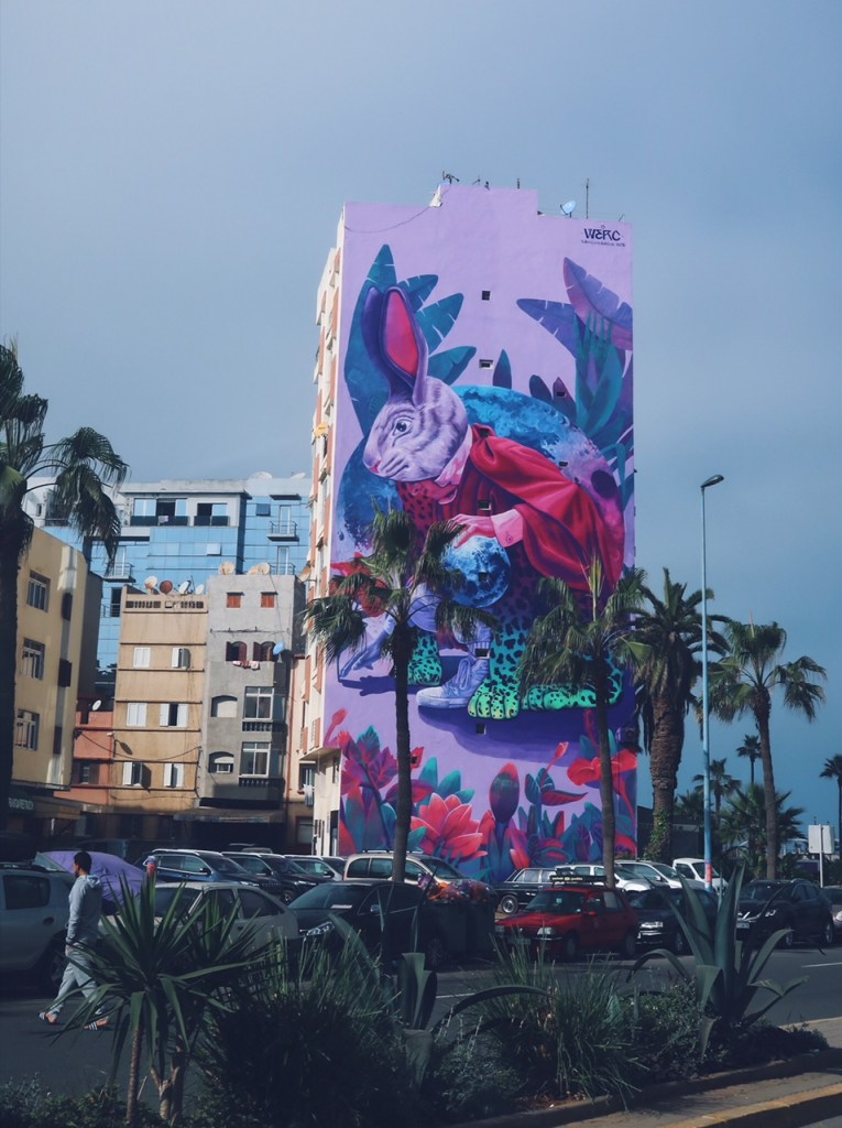 Wall art Casablanca, Muraille