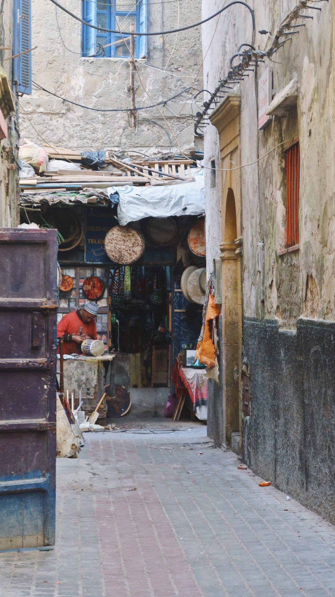 Artisan d'instrument de musiques à Essaouira
