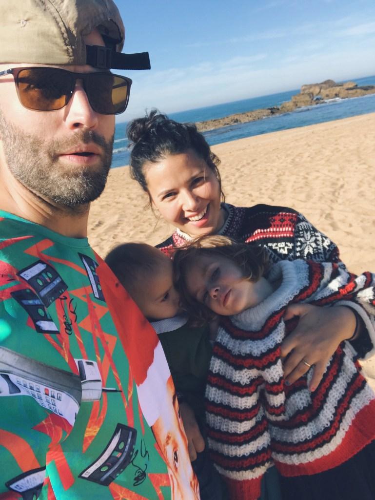 La famille qui voyage à Oualidia