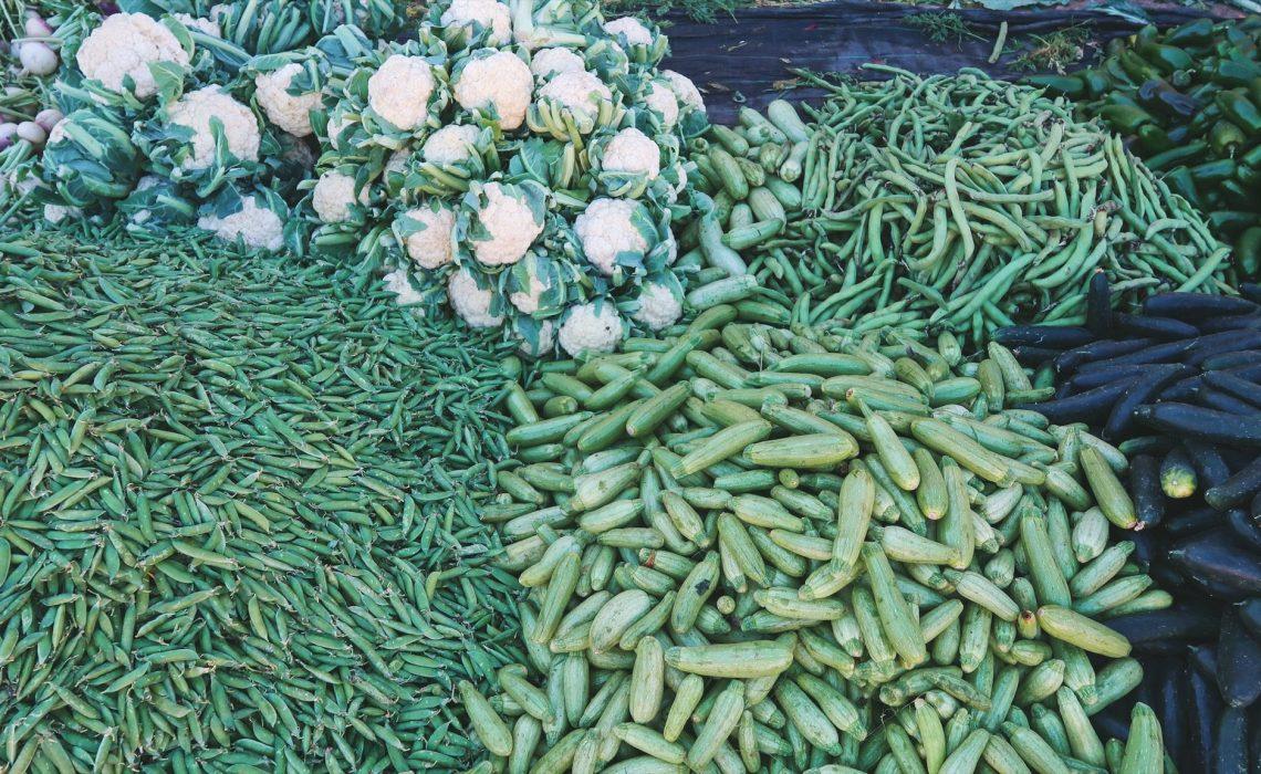 Légumes au marché à Tiznit