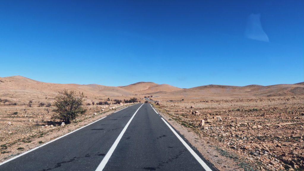 Voyage au Maroc route vers Tafraout