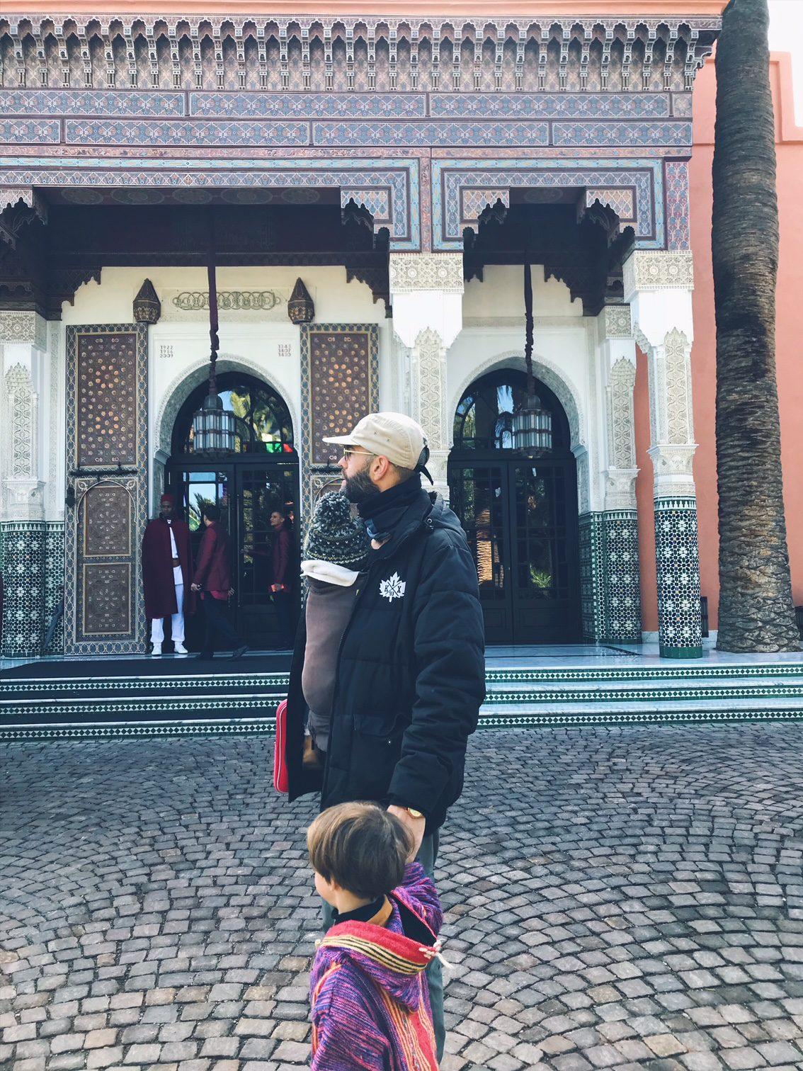 Voyage au Maroc Marrakech l'entrée de la mamounia