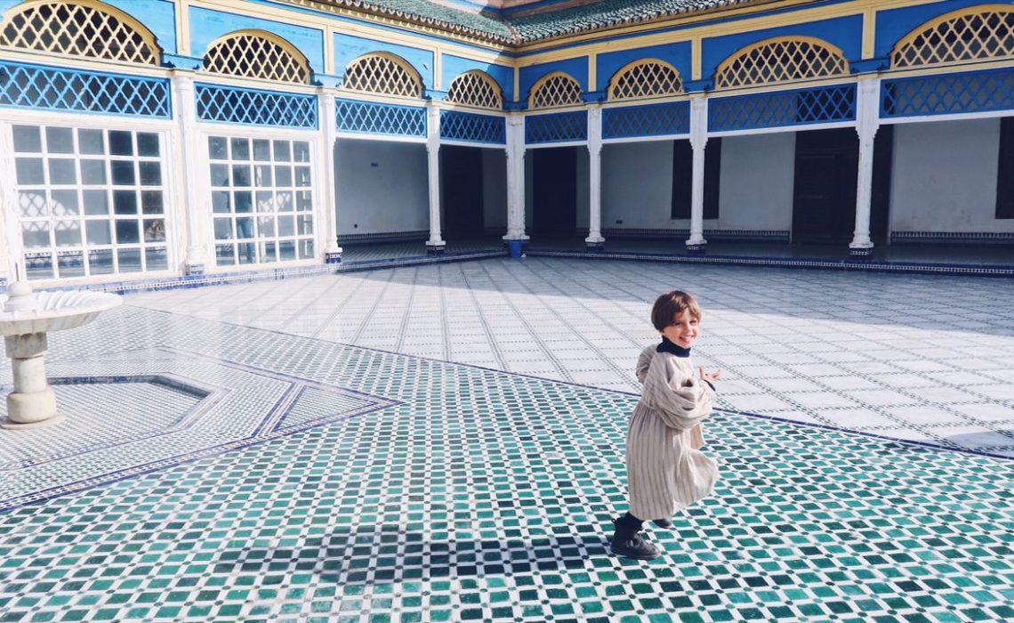 Voyage au Maroc Marrakech la course dans le palais de bahia