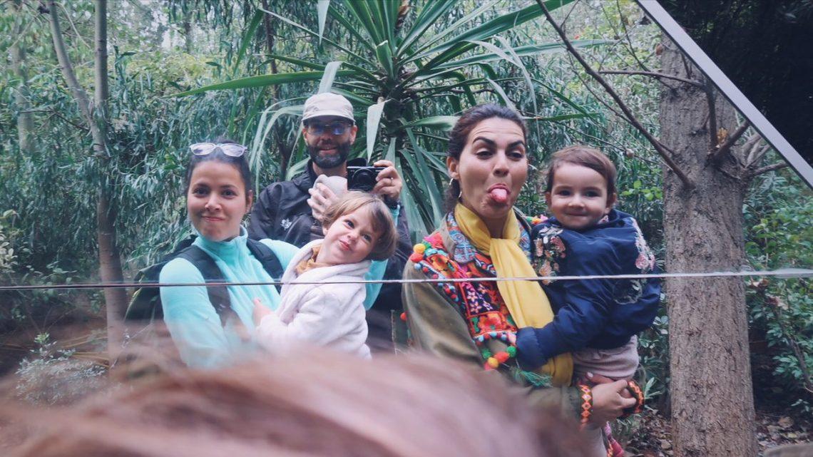 Voyage au Maroc Marrakech jardin andré heller avec kenza et les enfants