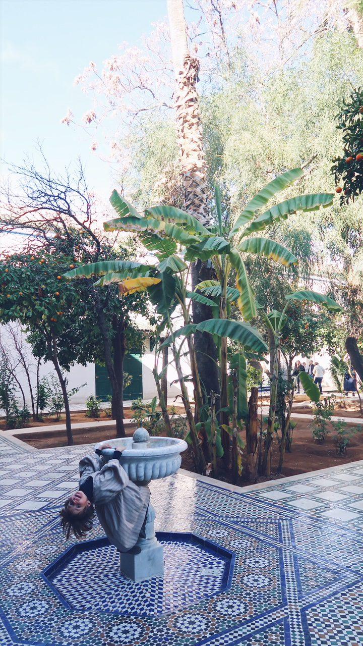 Voyage au Maroc Marrakech palais de bahia jeux d