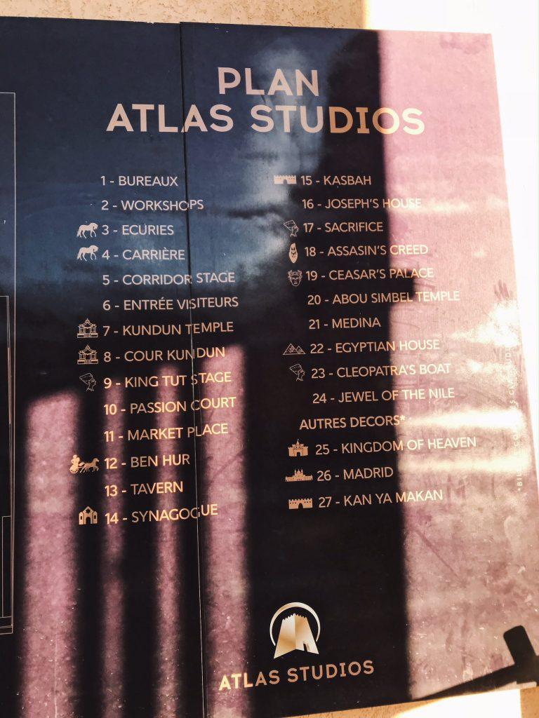 Voyage au Maroc Ouarzazate, Atlas Studio plan