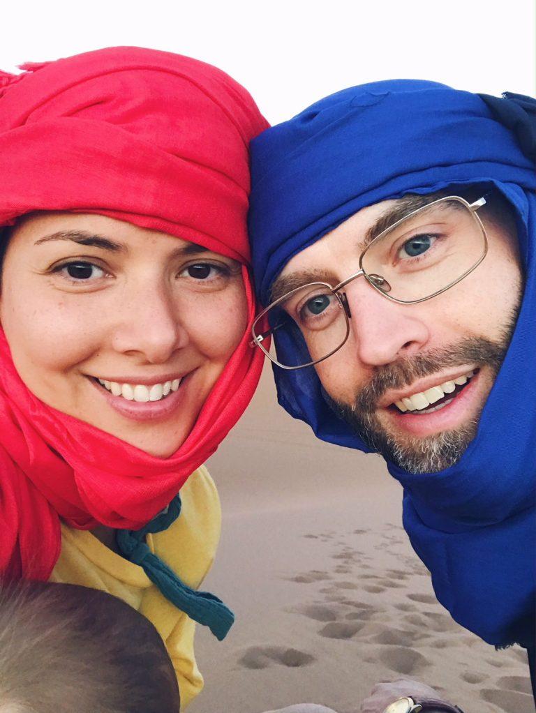Voyage au Maroc Desert Sahara Erg Chegaga les amoureux