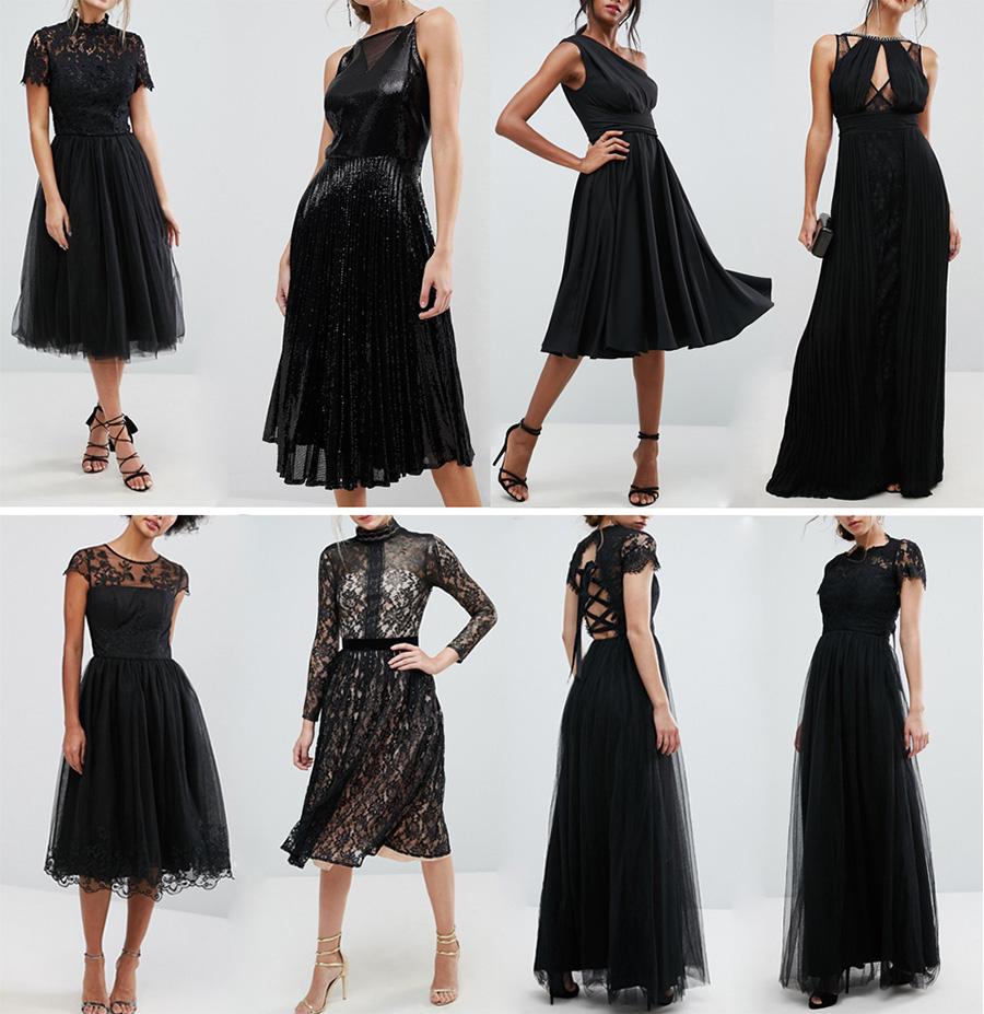 Концертное платье для пианиста - черный коллаж