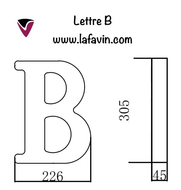 Lettre B Dimensions