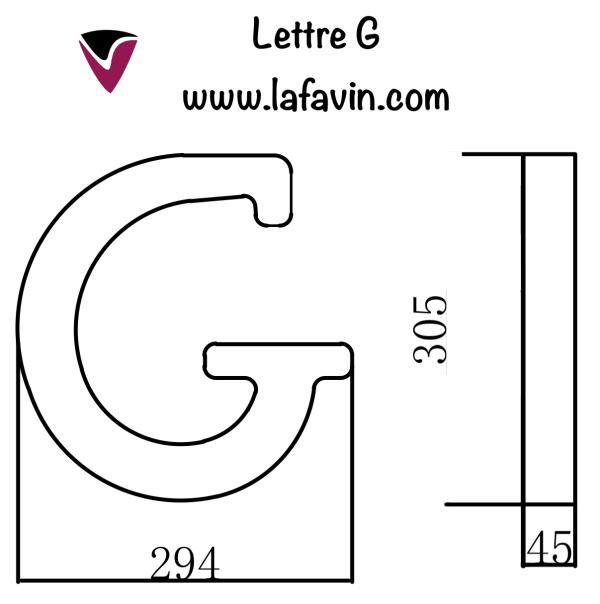Lettre G Dimensions