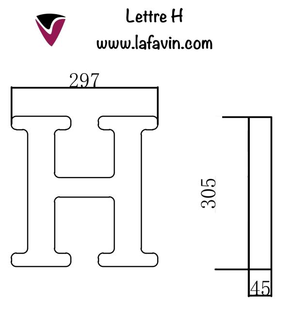 Lettre H Dimensions