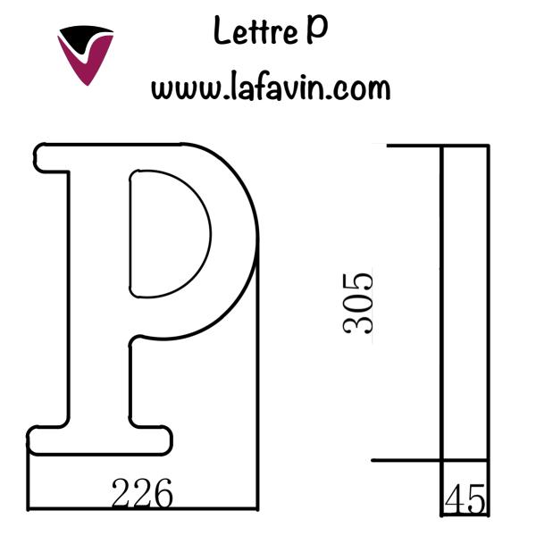 Lettre P Dimensions