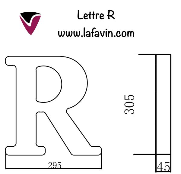 Lettre R Dimensions