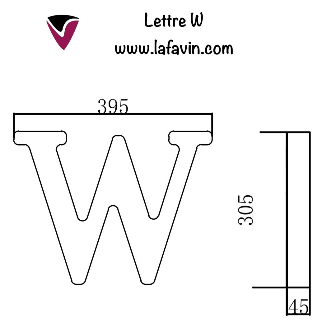 Lettre W Dimensions