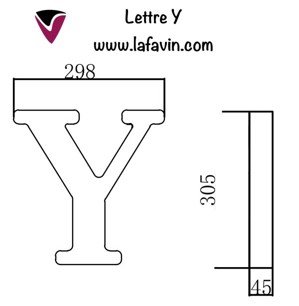Lettre Y Dimensions