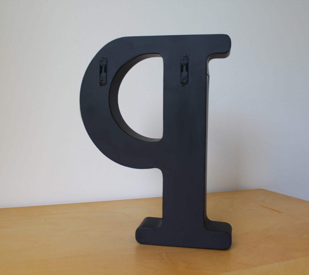 Lettre P decoration