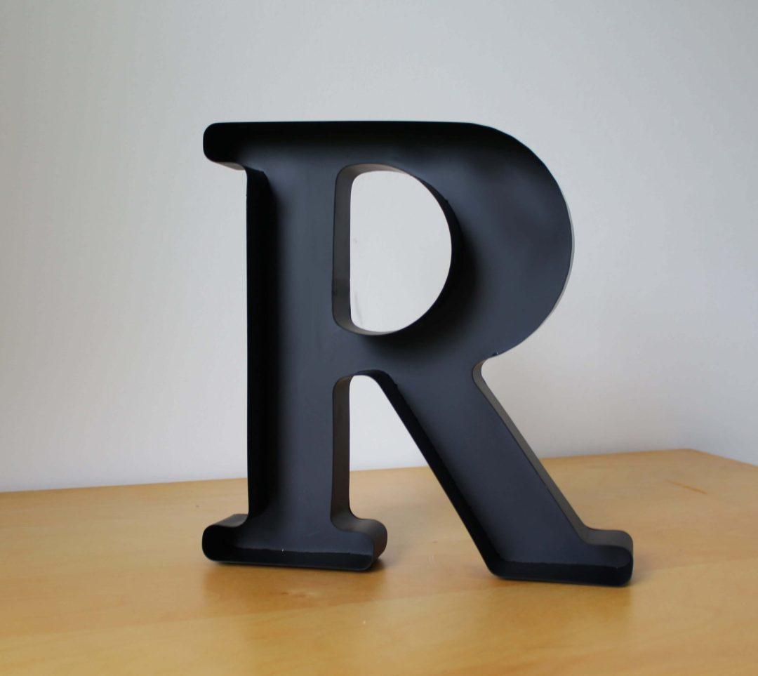 Lettre R déco