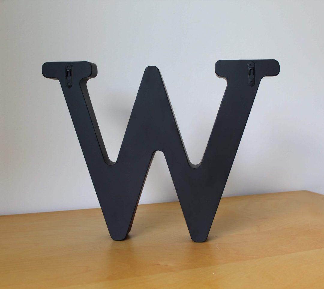 Lettre W déco