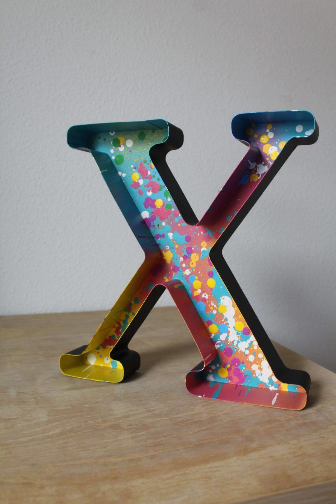 10 - LAFAVIN lettre X couleur