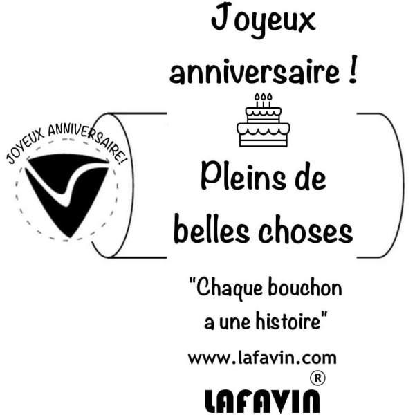 Bouchon anniversaire LAFAVIN