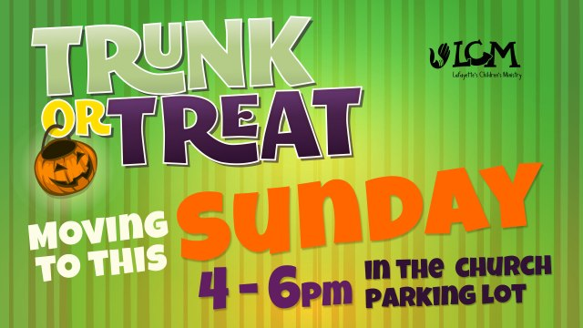 Trunk or Treat Sunday
