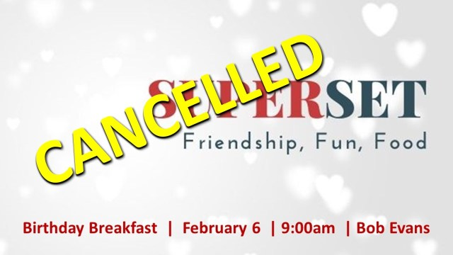 2.6.2020 Superset breakfast cancelled