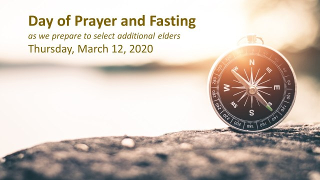 Day of Prayer and Fasting 3-12-2020