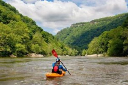 Kayaking on the New River