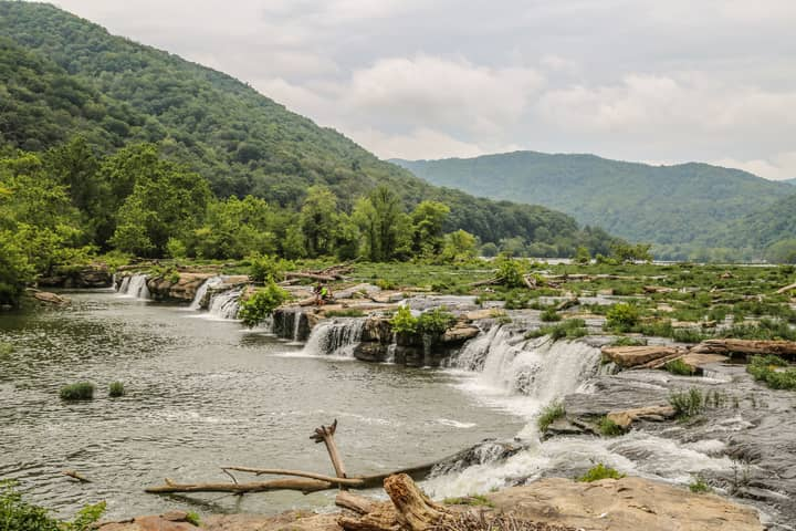 Sandstone Falls in New River Gorge National Park & Preserve