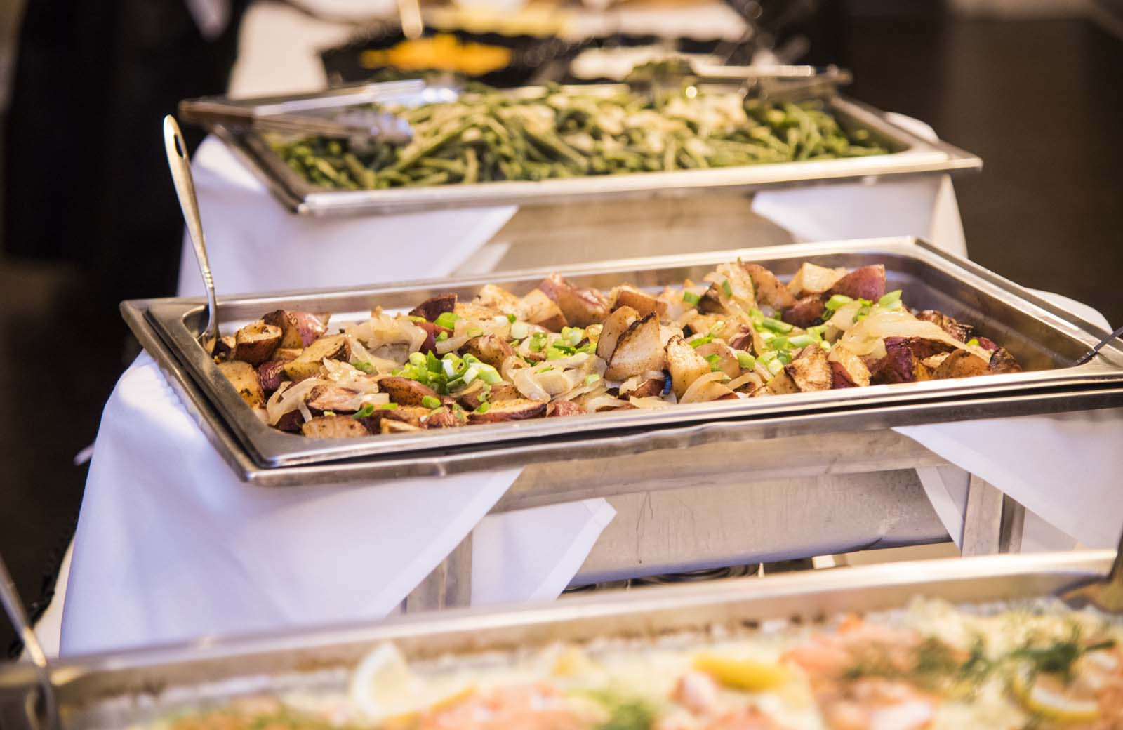 Food is served up on the 4th Floor Crystal Ballroom at the Lafayette Grande.