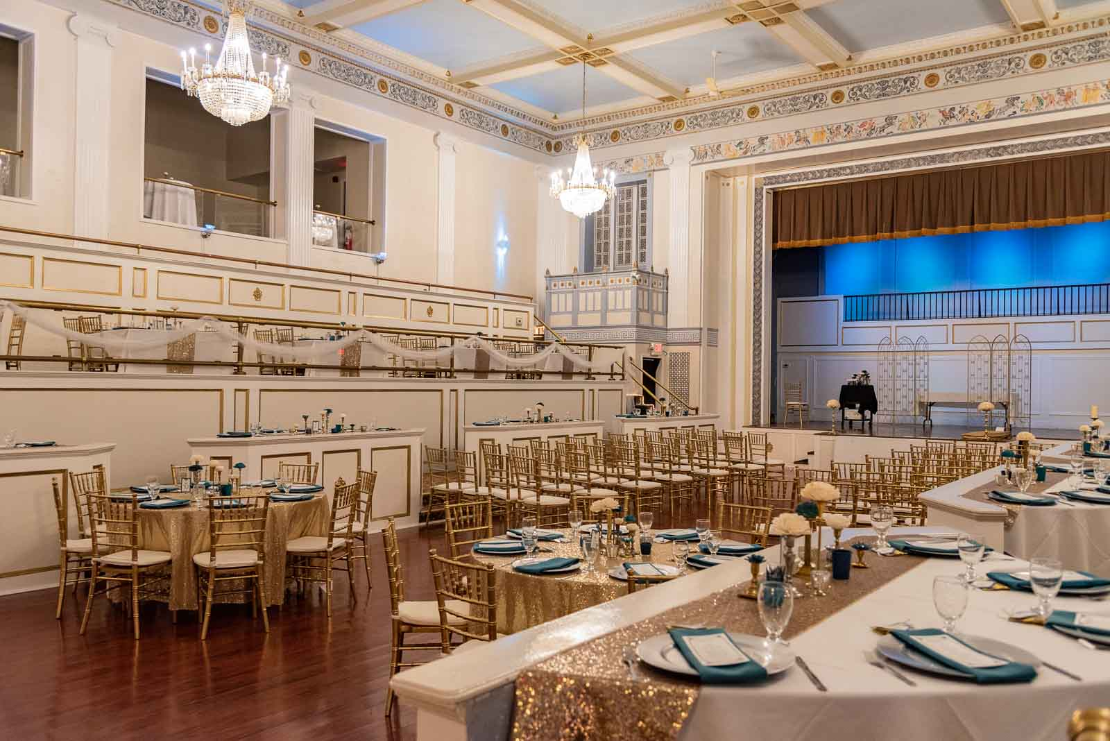 Corporate Party The oppulent and beautiful Crystal Ballroom.