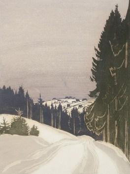 """Langegasse nach Zinnwald im Winter"" by Erish Buchwald-Zinnwald"