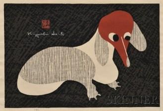 Print of Dog by Kiyoshi Saito