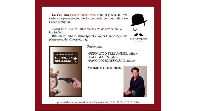 """Presentación de """"La memoria del barro"""" en Molina de Segura"""
