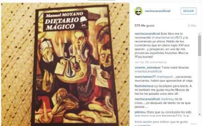 """Nacho Canut recomienda el libro """"Dietario mágico"""" en su cuenta de Instagram"""