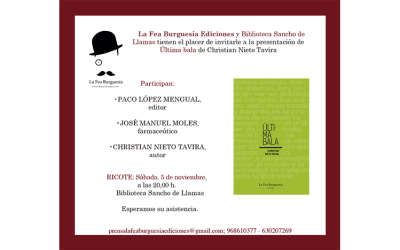 Presentación de Última bala de Christian Nieto Tavira en Ricote