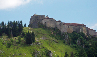 Chateau de Joux between Portarlier France & Val-de-Travwers Switzerland