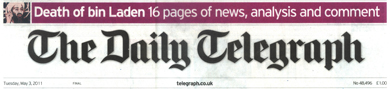 Daily Telegraph header