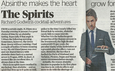 Evening Standard Article regards La Fée absinthe
