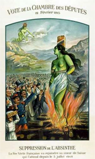 French absinthe ban poster