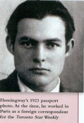 Ernest Hemingway 1923 passport pic