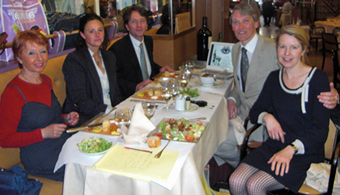 Lunch-with-the-FFS-Chairperson-From-left-Marie-Claude-Delahaye-Marie-Delphine-Benech-La-Fes-Paris-based-distiller-George-Jane-Rowley