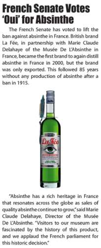 MDA article about La Fée absinthe