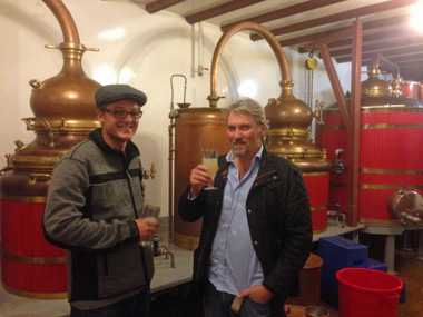 The 5th generation start to help François Guy at the family distillery, learning their craft
