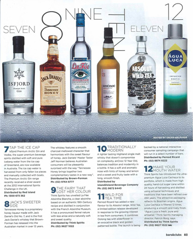 Article from Bar and Club magazine Australia