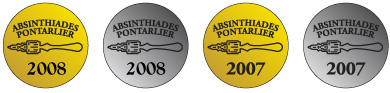 Absinthiades medals for La Fée Absinthe