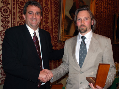 George Rowley receiving Awards at Absinthiades 2009 for La Fée absinthe
